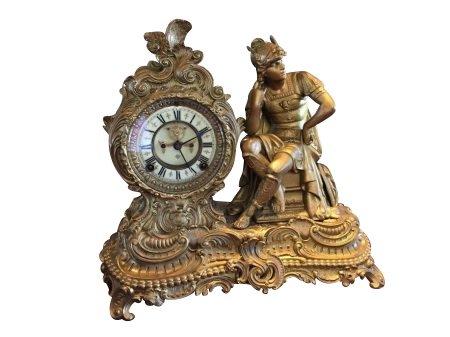 Antique Victorian Ansonia Mercury Mantel Clock