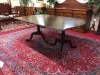 Antique Mahogany Carved Double Pedestal Table