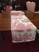 red Toile Table Runner