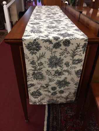 black Toile Table Runner