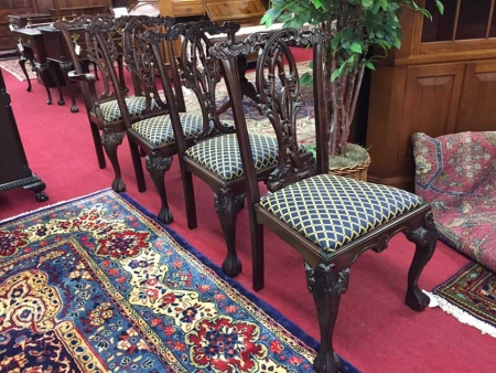 Mahogany chippendale style chair set