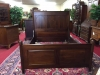 Queen Sized Antique Mahogany High Panel Bed