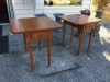 Pembroke style end tables