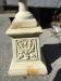 antique white garden urn
