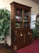 antique carved bookcase
