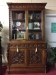 antique carved cabinet bookcase