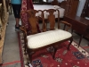 Henry Link Furniture Solid Mahogany Queen Anne Settee