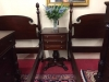Antique Mahogany Three Drawer Carved Accent Table