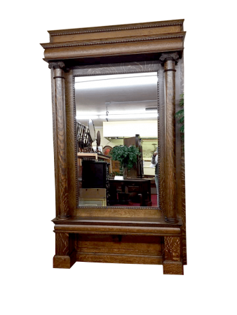 Antique Oak Pier Mirror