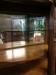 Antique Renaissance Revival Oak Bowed Glass Cabinet
