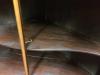 Monumental Two Piece Antique Mahogany Corner Cabinet