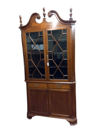 Antique Oak Pier Mirror