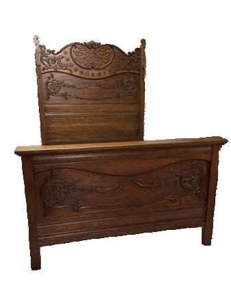 antique oak bed