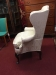 Antique 19th Century Gettysburg Pennsylvania Wing Back Chair 5