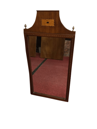 Mahogany Inlaid Art Deco Mirror