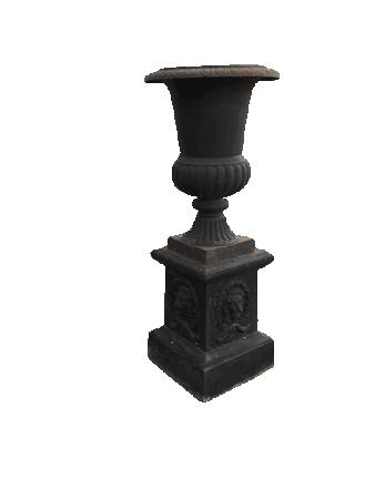 antique cast iron garden urn