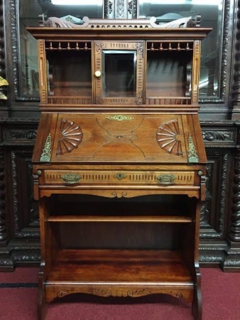 Victorian Birch Secretary Desk