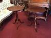 vintage pedestal tables