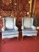 blue wing back chairs