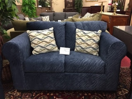 navy loveseat