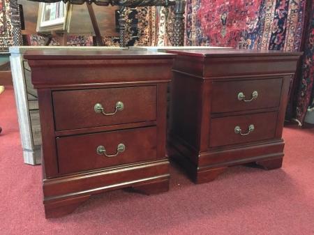 cherry finish nightstands
