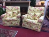 floral arm chairs