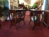 brandt mahogamy end tables