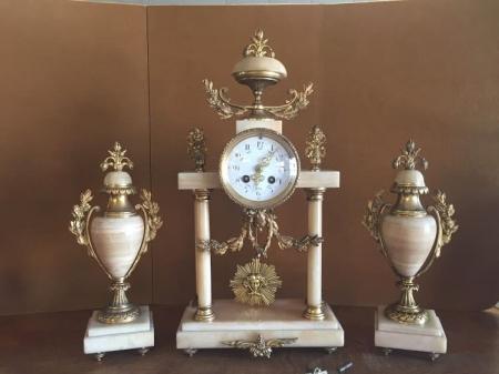 antique french clock set