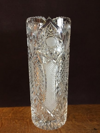 cut glass crystal vase