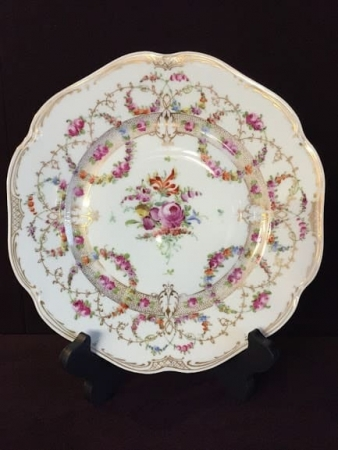 Dresden hand painted plates - set of ten