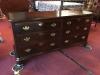mahogany six drawer dresser
