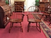 hitchcock cherry bow-back arm chairs