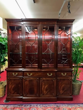 kittinger mahogany breakfront