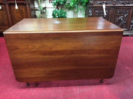 cherry six leg drop leaf table