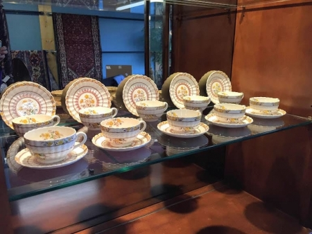 """english spode """"buttercup"""" cups and saucers"""