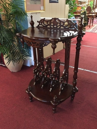 mahogany carved hall stand
