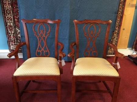 Chippendale Style arm chairs