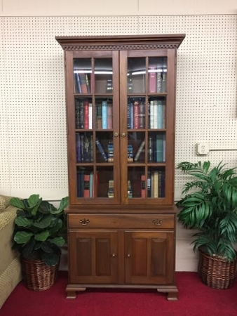 custom made walnut bookcase