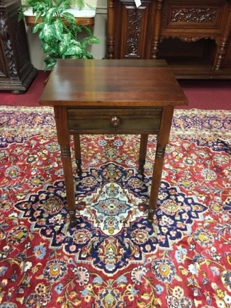 one drawer antique work table