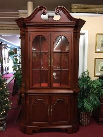 Thomasville Cherry Corner Cabinet