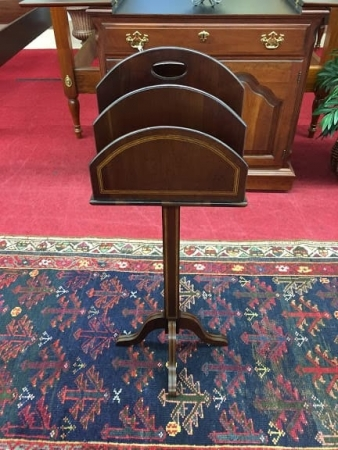 mahogany inlaid sheet music stand