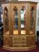 keller oak lighted hutch cabinet