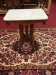 Antique Victorian Marble Top Accent Table