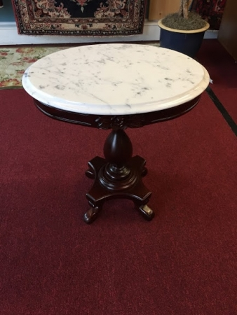 Reproduction Victorian Style Marble Top Table