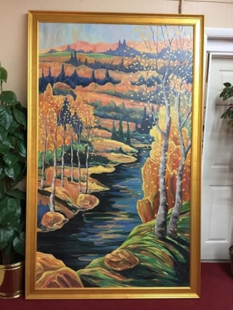 Large Original Oil on Canvas by Kirk D. Denney