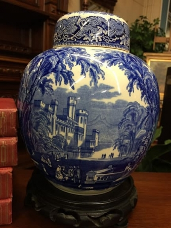 Mason's Ironstone Blue and White Ginger Jar