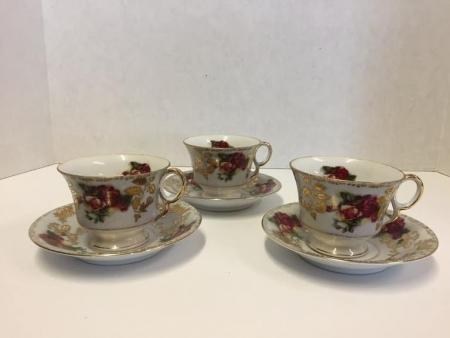 Royal Sealy China Tea Cups and Saucer Set