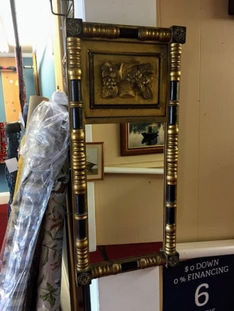antique federal mirror with columns
