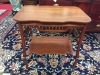 Victorian Spindle Table with Shelf