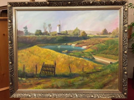 """""""A View of Holland"""" Painting by Arlene Wise"""